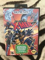 X-Men (Sega Genesis, 1993) Complete CIB W/ Inserts | Vintage | Tested No Poster