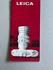 Leica, 32 Page Brochure, 7 x 3 in's,M2  & M3 Era,mid 1960's