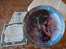 LEE BOGLE-Soul Mates American Native Sweethearts Caress-HEARTS DESIRE Plate 6