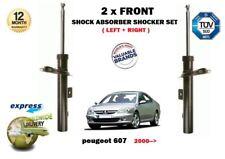 FOR PEUGEOT 607 9D 2000-> NEW 2 X FRONT LEFT RIGHT SHOCK ABSORBER SHOCKER SET