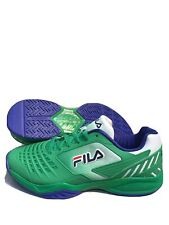 Fila Axilus 2 Energized Men's Tennis Shoes Green/Blue/White - Size 12