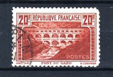 "FRANCE STAMP TIMBRE 262 B "" PONT DU GARD 20F DENTELE 11 "" OBLITERE TTB  R584"