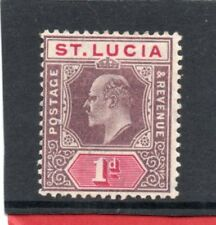 St.Lucia EV11 1902-03 1d dull purple & carmine sg 59 HH.Mint