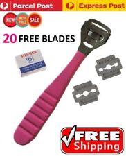 Foot File Hard Skin Remover Callus Shaver Corn Cutter Tool Pedicure + 20 Blades