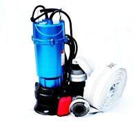 Fäkalienpumpe Tauchpumpe Schmutzwasserpumpe 1,5kW mit Schwimme+ 20m C-Schlauch