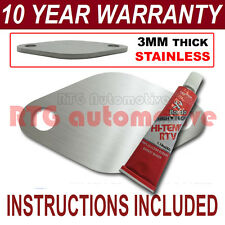 PEUGEOT 406 607 2.2 HDI DIESEL EGR BLANK PLATE 3MM STAINLESS STEEL ND SEALANT