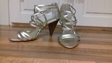 ladies sze 4 (37) EXPENSIVE TOP QUALITY lovely strappy sandal with back heel zip