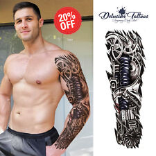 TEMPORARY TATTOO SLEEVE, MECHANICAL, ROBOT, TERMINATOR, 3D, MENS, WOMENS, ARM