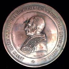 MEDAILLE PAPALE EN BRONZE - VATICAN - LEON XIII - 1887 ROME - RARE!!!!!