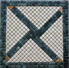 "24""x24"" Marble Tile Mosaic  Medallion Design Stone floor or backsplash #80"