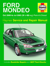 3990 Haynes Ford Mondeo Benzina & Diesel (Ott 2000-LUG 2003) Manuale Officina