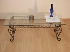 """Couchtisch """"Antik-Stil"""" Glastisch Beistelltisch Tisch Eisen braun goldfarben"""