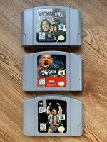 Nintendo 64, N64 Lot Of (3) WWF War Zone, WCW Mayhem, WCW vs. nWo World Tour