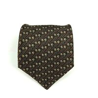 Hermes Paris Men's 100% Silk Brown Luxury Necktie Tie 729 FA - Made In France
