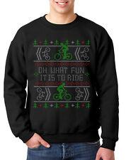 BICYCLE CHRISTMAS UGLY JUMPER BIKE SWEATER XMAS CYCLING BIKER
