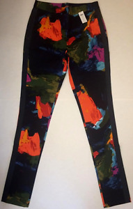 Kate Spade Saturday Women's Skinny Fit Zip Casual Pants Size 2 Colorful Pattern