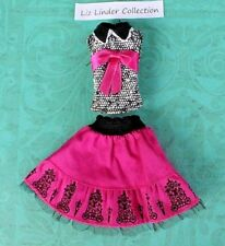 MONSTER HIGH ~ Draculaura Picture Day TOP / SHIRT SKIRT OUTFIT Clothes