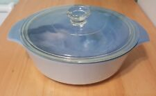 Vintage FIRE KING BLUE CORNFLOWER  # 436  CASSEROLE DISH BLUE ON BLUE 1 Qt