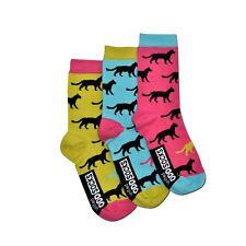 United Oddsocks Holly Size 4-8 UK Sock Womens Odd Cat Bright Socks Mismatched