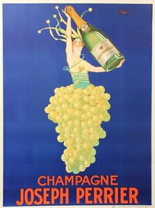 Original Vintage 1926 Champagne Poster, 'Champagne Joseph Perrier' by J Stall