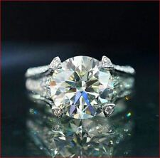 Engagement Ring 925 Sterling Silver 3Ct White Round Moissanite Bridal