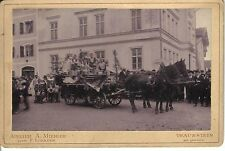 AK CDV Foto Fasching Traunstein um 1900 SELTEN !!!