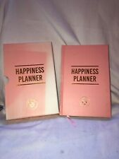 Happiness Planner Journal Pink Hardcover & Box Anthropologie Guided Writing Book