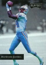 1992 PLAYOFF #53 HAYWOOD JEFFIRES - OILERS/TITANS - FREE SHIPPING!