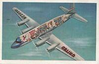 Vintage 1948 United Airlines DC-6 Mainliner Cabin-Cutaway View Postcard NC30001