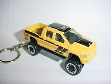 Rare Nice Key Chain Ring Fob Black Dodge Ram 1500 Pickup Truck Detailled Keyring New Custom Limited Edition or for Rear View Mirror Hanger