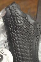 Safariland Black basketweave Leather Holster 29-8 Med Frame/Left Hand 4""