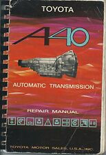Toyota National Service  USA A40 Austin Automatic Transmission Repair Manual