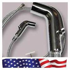 1Pack Steel ABS Handheld Bidet Shattaf Sprayer Toilet Cloth Diaper T-adapter