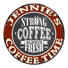 CWCT-0265 JENNIE'S COFFEE TIME Chic Tin Sign Decor Gift Ideas