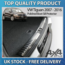 VW VOLKSWAGEN TIGUAN 2007-16 POLISHED CHROME STAINLESS STEEL BOOT SILL PROTECTOR