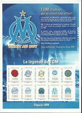 France Bloc Collector 10 Timbres Adhésifs Olympique de Marseille Football **2014