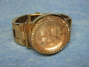 Women's MICHAEL KORS Chronograph Gemmed Watch MK5586 w/ New Battery