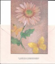 Pink Breast Cancer Hope Flower Butterfly Encouragement Hallmark Greeting Card