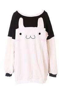 TS-184 Hase Bunny Rabbit Pastel Goth Lolita Pullover Sweatshirt Harajuku Kawaii