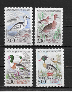 FRANCE 1993 Water BIRDS set of 4 LM MINT