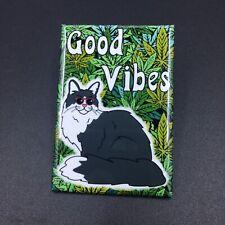 Maine Coon Cat Cannabis Magnet 420 Marijuana Kitty Weed Kitchen Home Decor