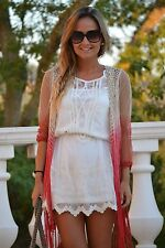 ZARA GROUP PULL BEAR LACE DRESS SIZE L LARGE BLOGGERS
