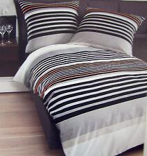 Par Janine Mako Satin Linge De Lit 135x200 pigeon anthracite orange 80x80 Coton