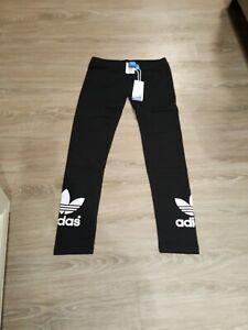 Adidas Women's Originals Trefoil Leggings SV3 Black Medium with tag/bag
