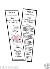 BOOKMARK ZODIAC  Pisces  Aries Taurus Gemini and all Star Signs Funny Old Bull