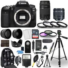 Canon Eos 90D Dslr Camera + 18-55mm Stm + 75-300mm + 30 Piece Accessory Bundle
