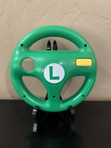 Luigi Themed Nintendo Wii Remote & Matching Mario Kart Steering Racing Wheel