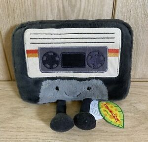 Jellycat Amuseables Cassette Soft Plush Toy Retro Cassette - New with Tags