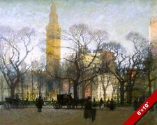 MADISON SQUARE GARDEN IN AFTERNOON NEW YORK CITY PAINTING ART REAL CANVAS PRINT