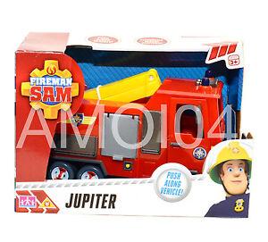 Fireman Sam Jupiter Fire Engine Truck Push Along Vehicle